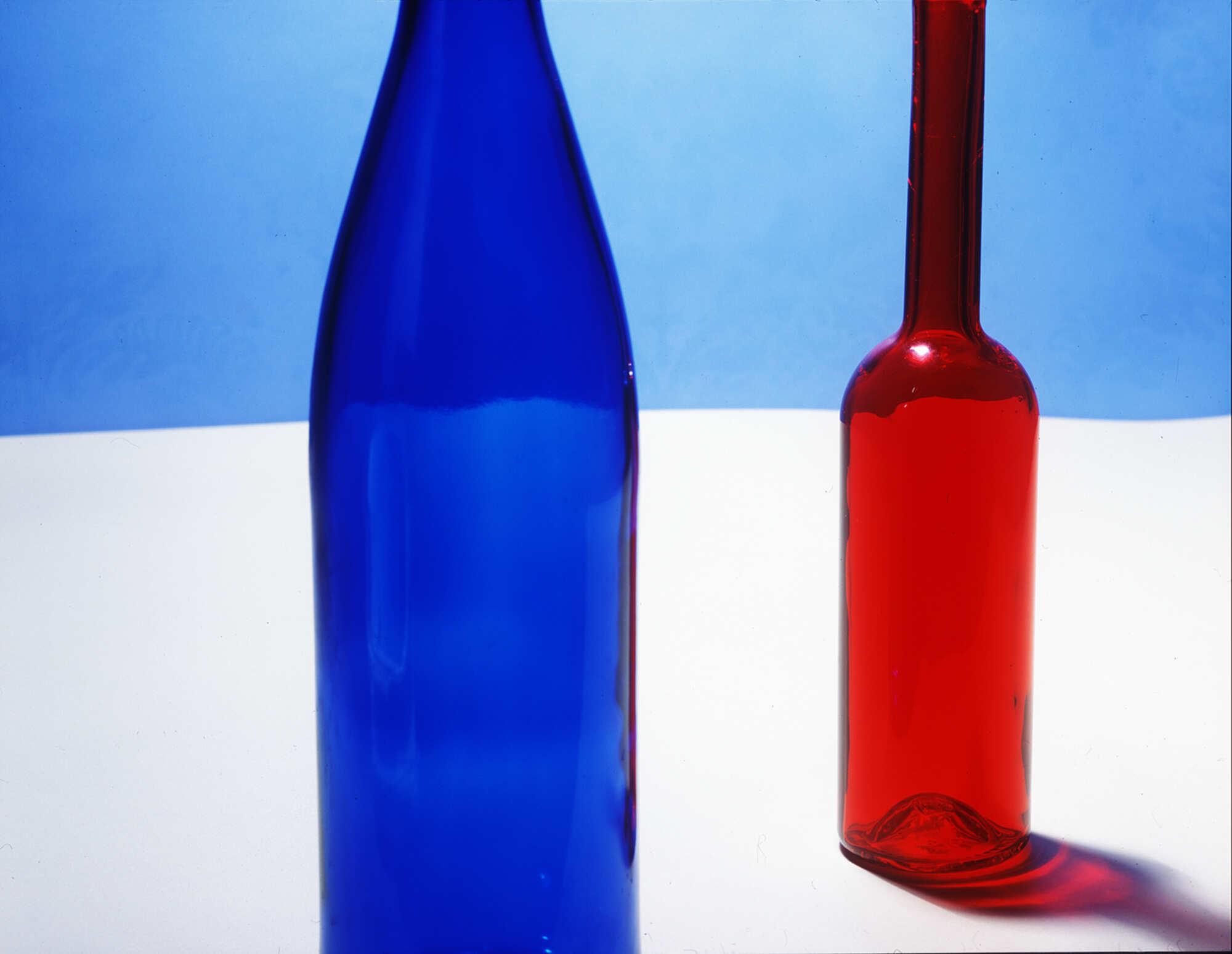 Винтажная фотография с изображением бутылок 2000 г.