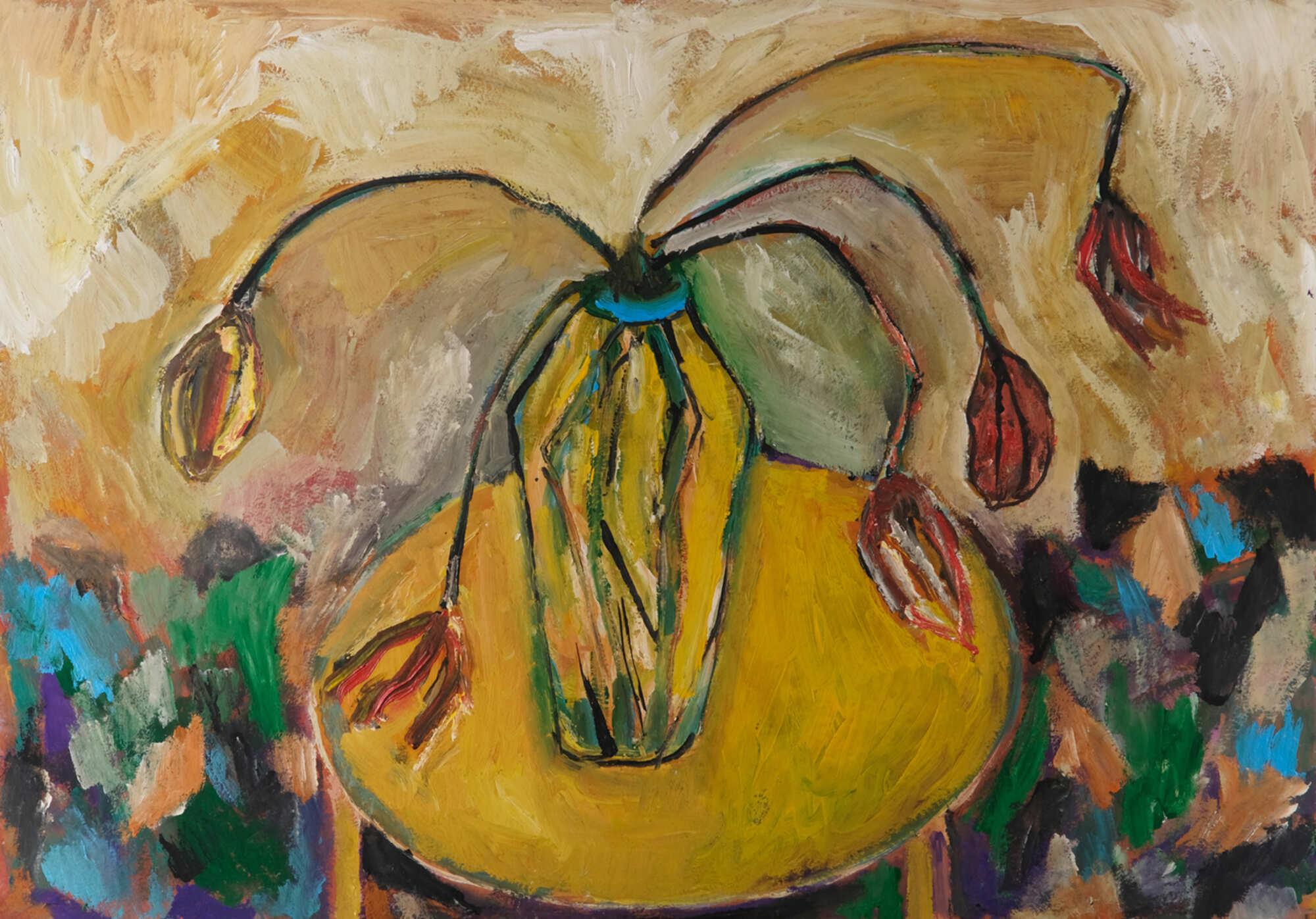 Современная интерьерная картина, натюрморт с цветами