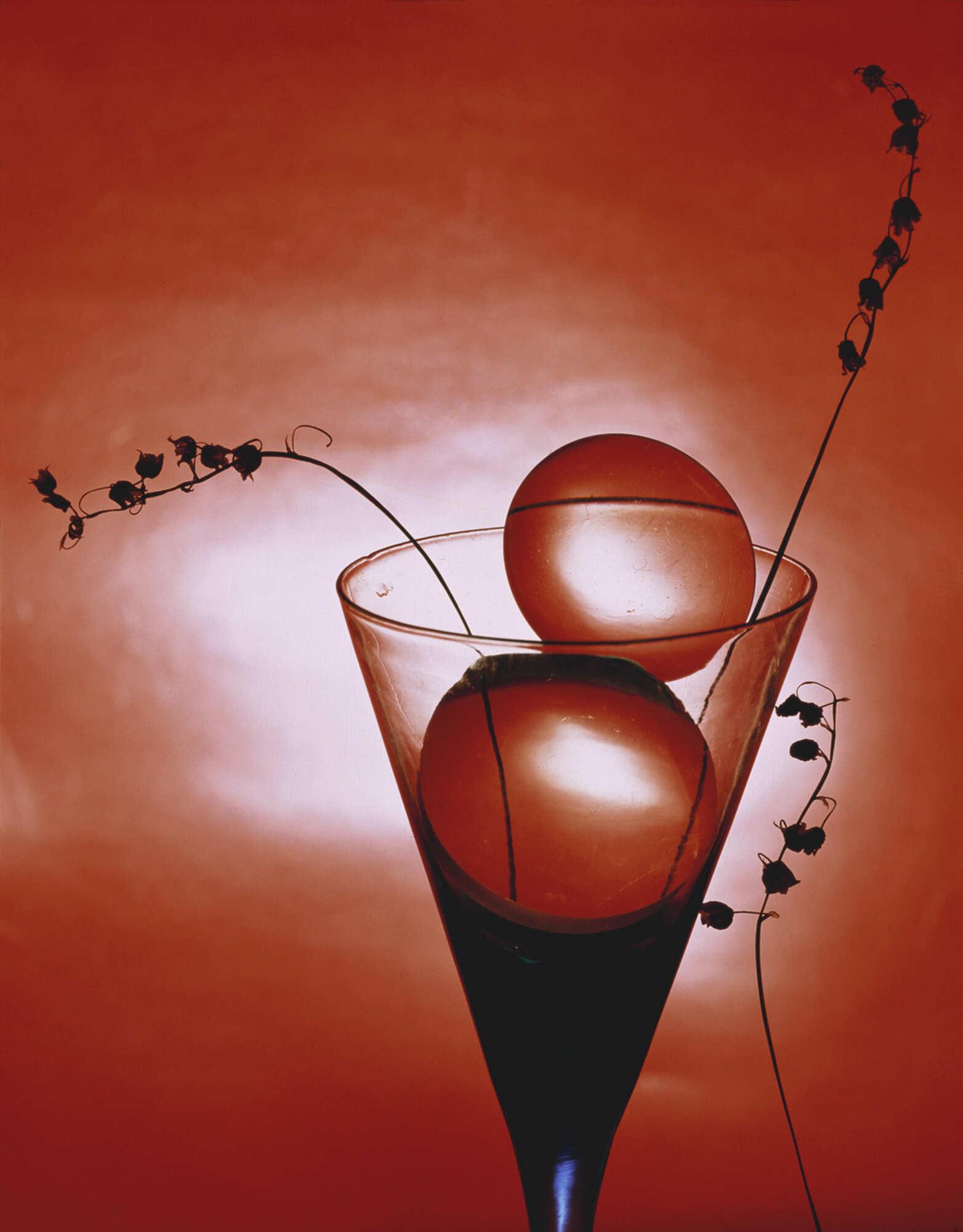 Винтажная фотография с изображением бокала