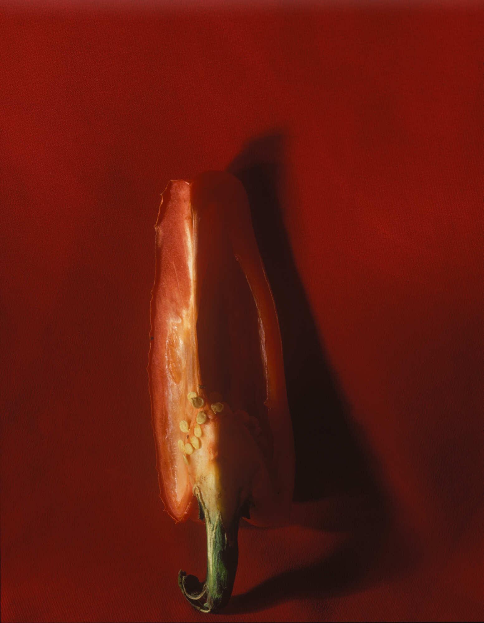 Винтажная фотография с изображением перца