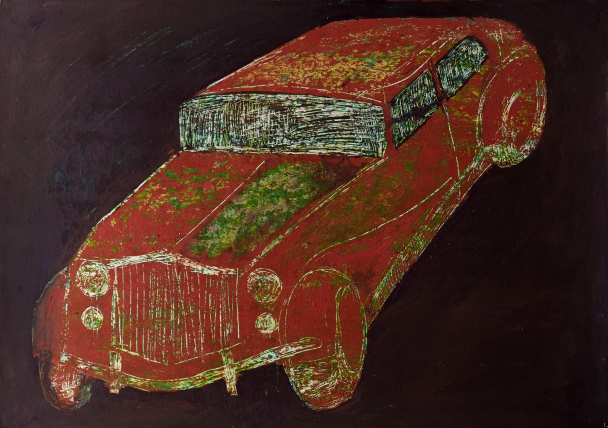 Современная графика с изображением машины