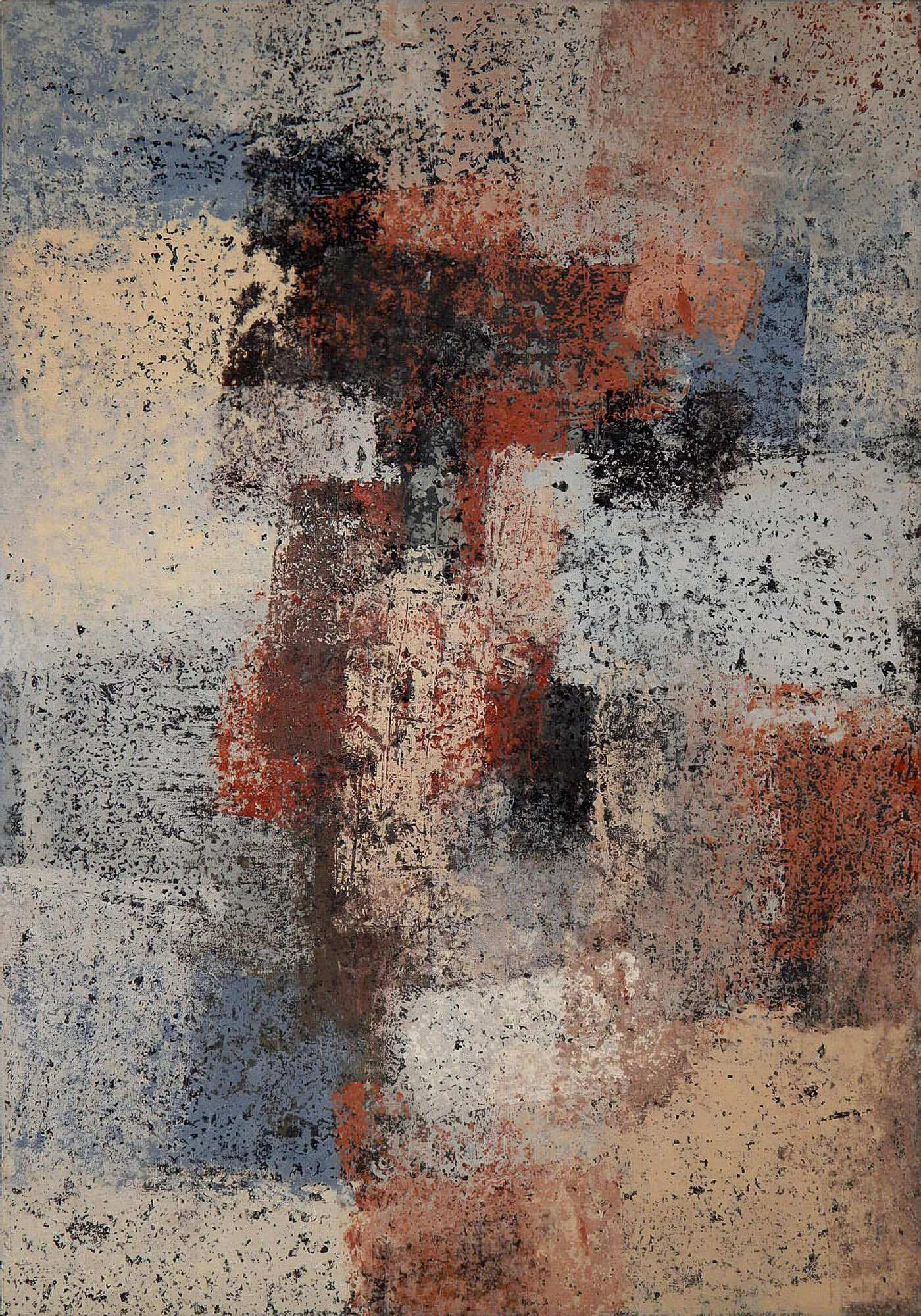 Современная интерьерная картина, абстракция в темных тонах