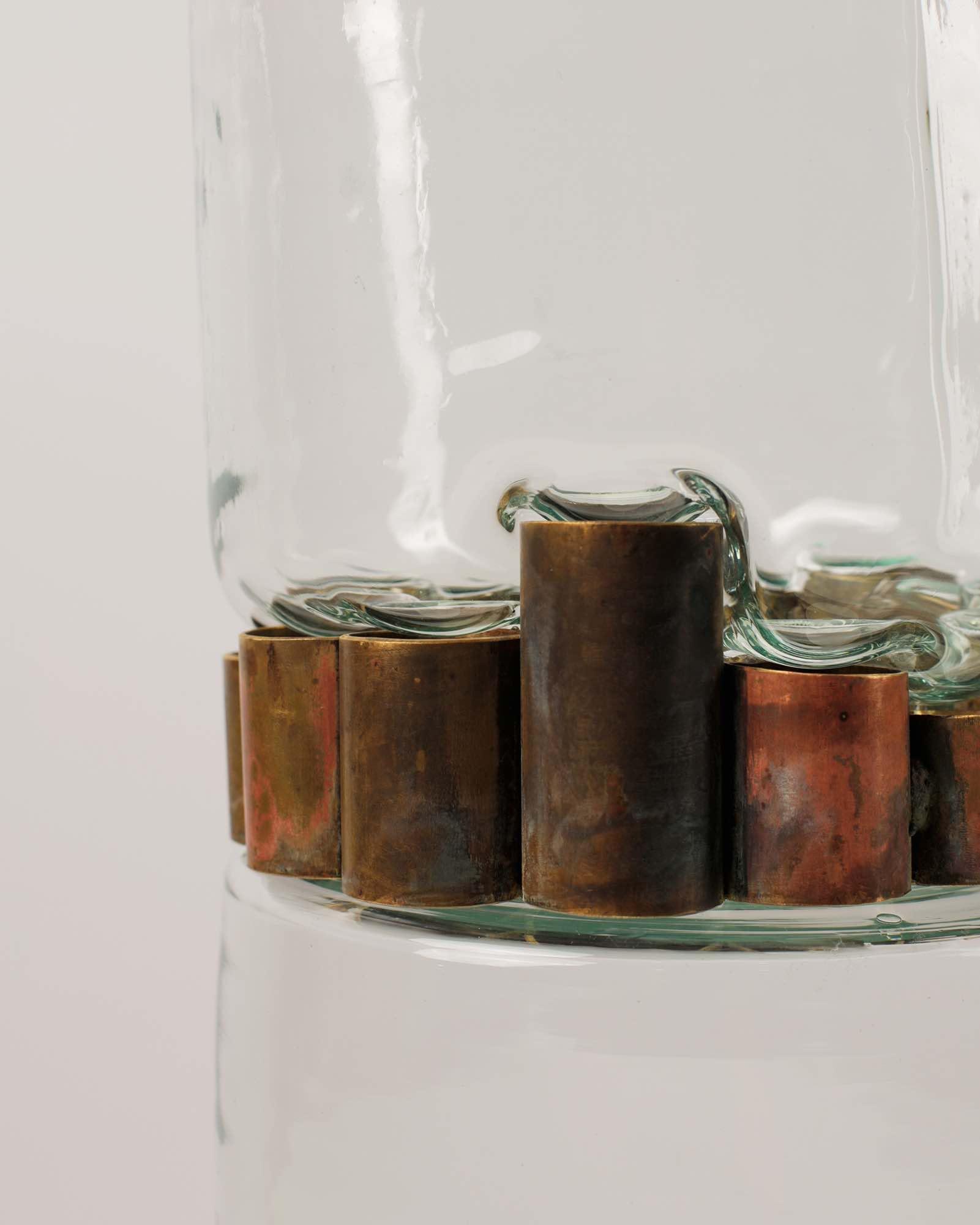 Современная стеклянная авторская ваза