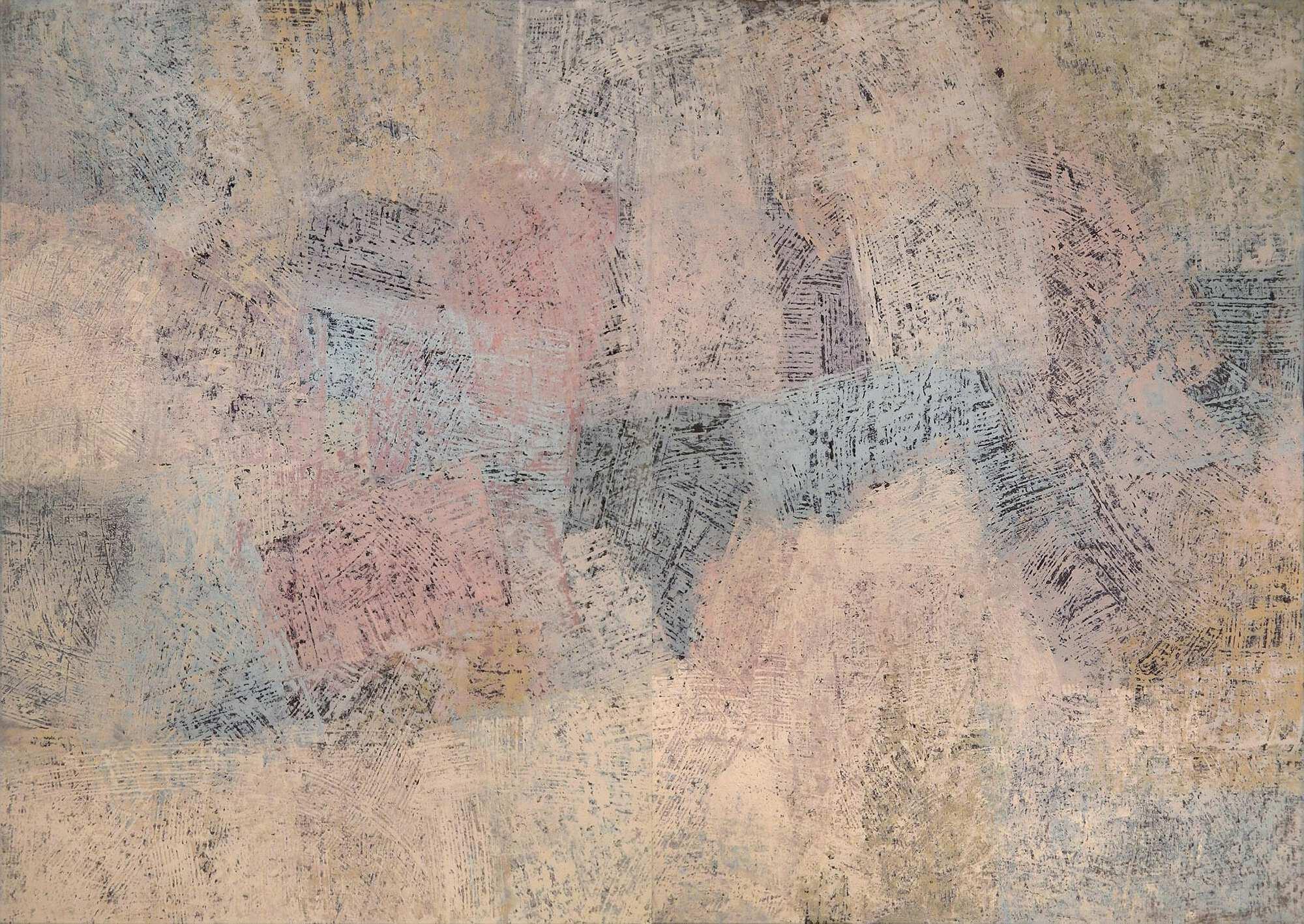 Современная интерьерная картина, абстракция в светлых тонах