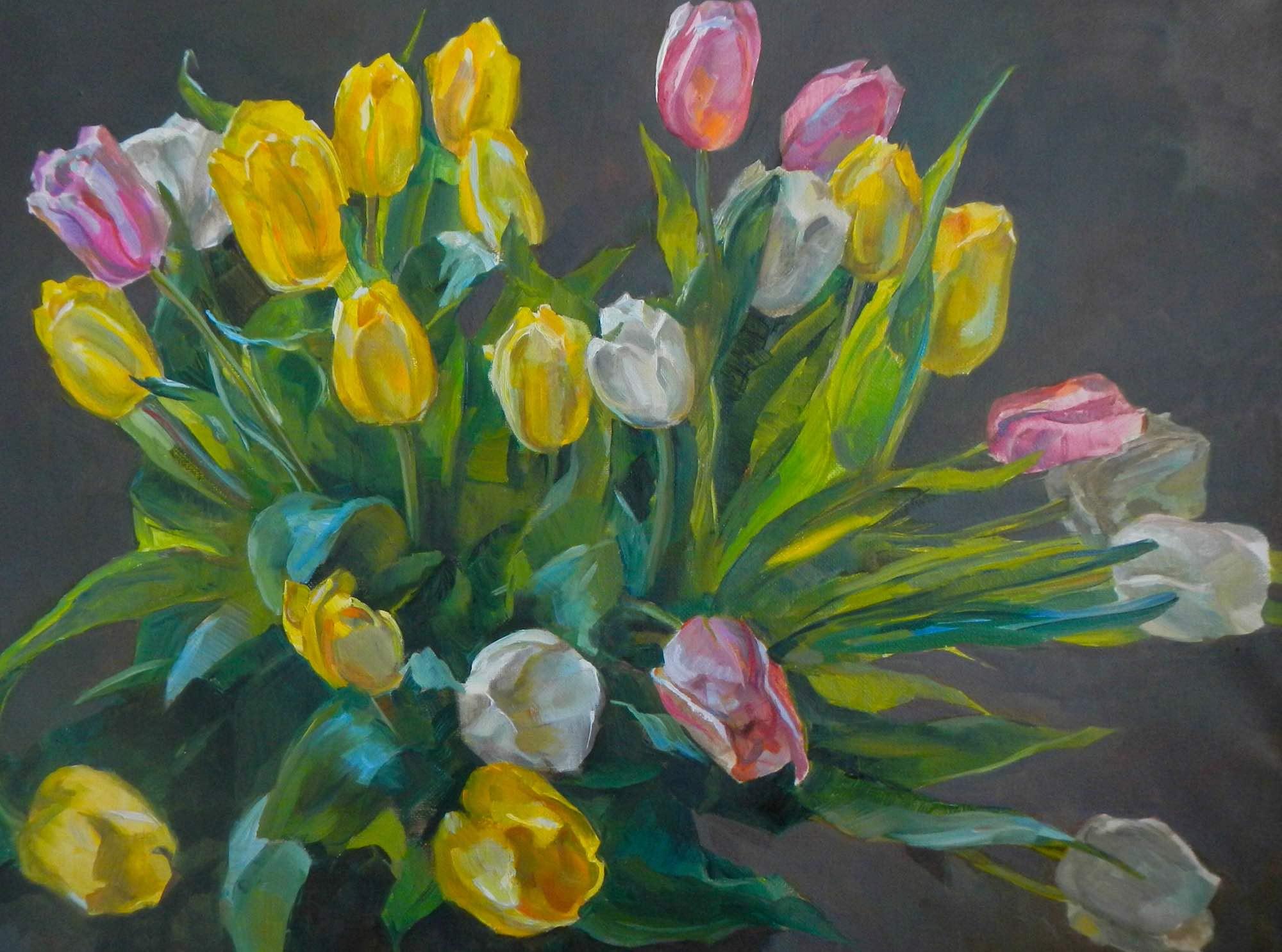 Картина с изображением букета цветов