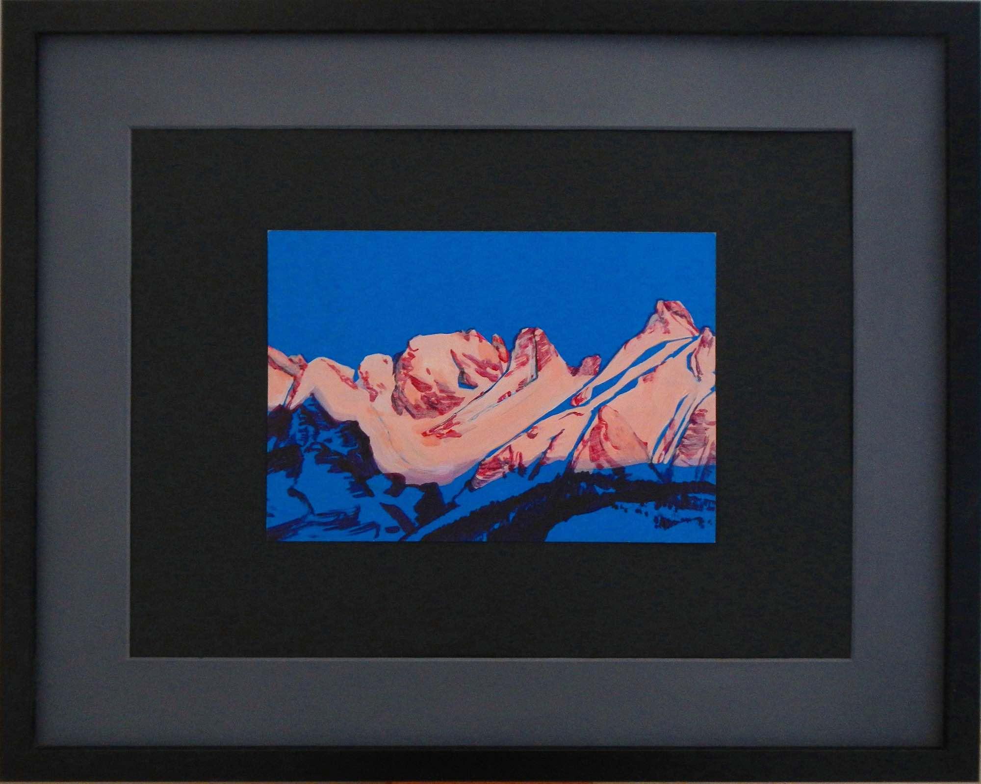 Интерьерная картина с горным пейзажем