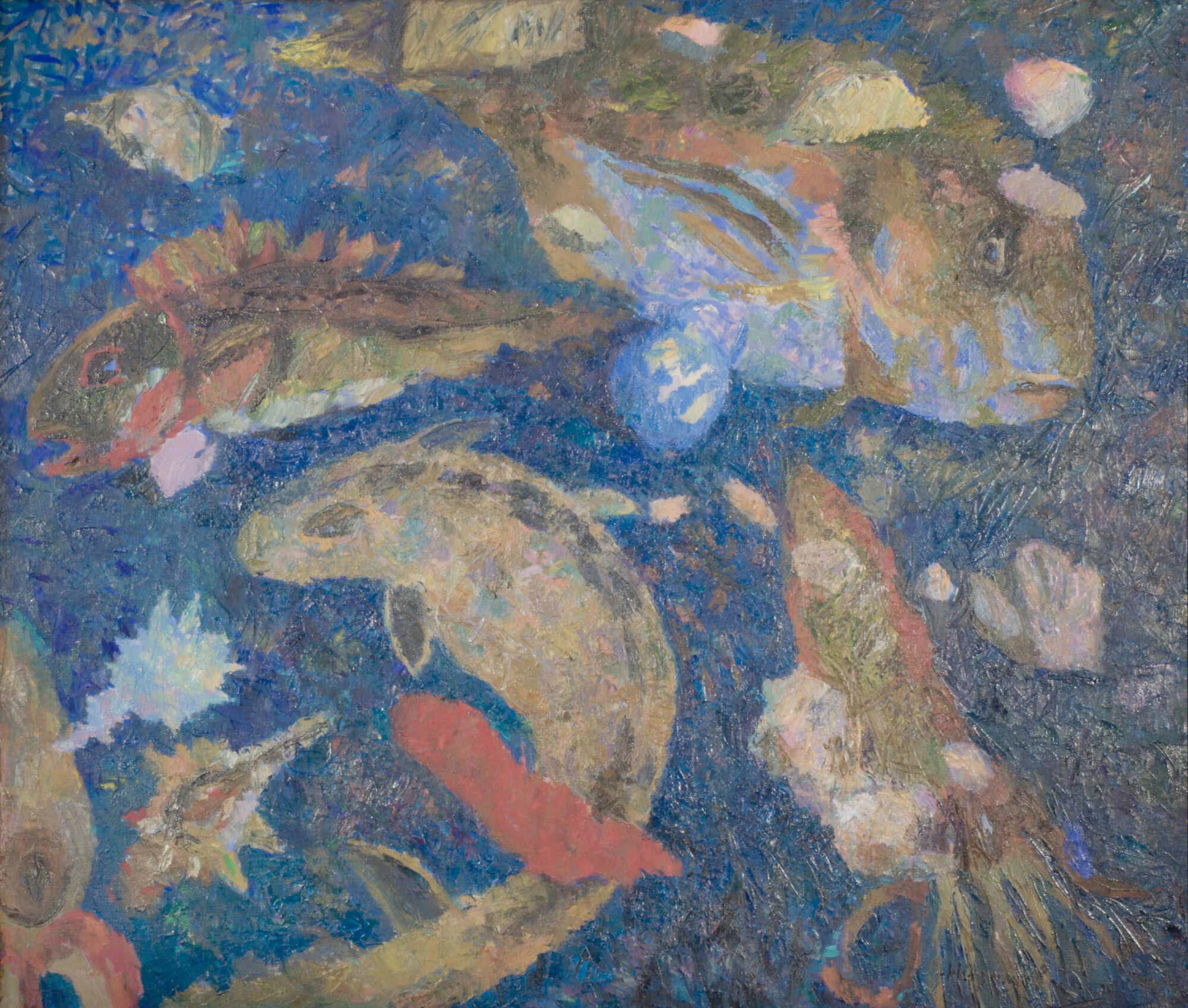 современная картина с изображением рыб