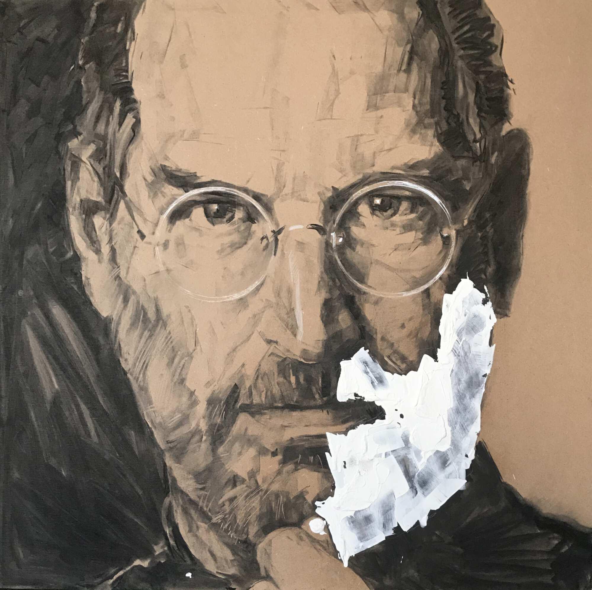 Портрет Стива Джобса